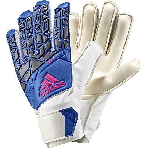 adidas Ace Junior Torwart-Handschuhe, weiß, 7 (Weiße Adidas Fußball Handschuhe)