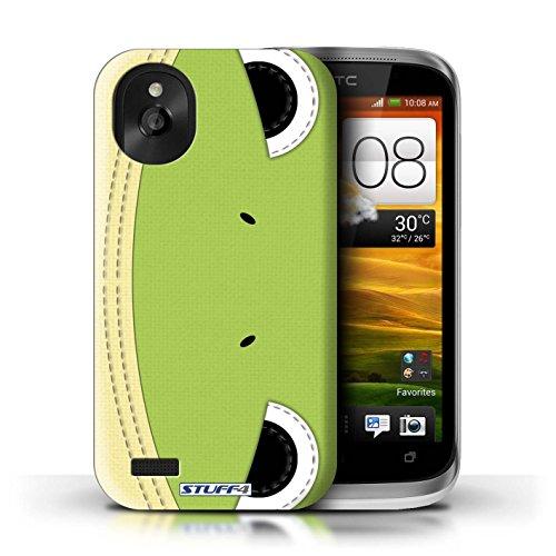 Kobalt® Imprimé Etui / Coque pour HTC Desire X / Manchot conception / Série Cousu des Animaux Effet Grenouille