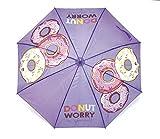 Zaska Parapluie Automatique Donuts En Polyester Modele Aleatoire 58Cm Paraguas clásico, 70 cm, (Mauve/Rose)