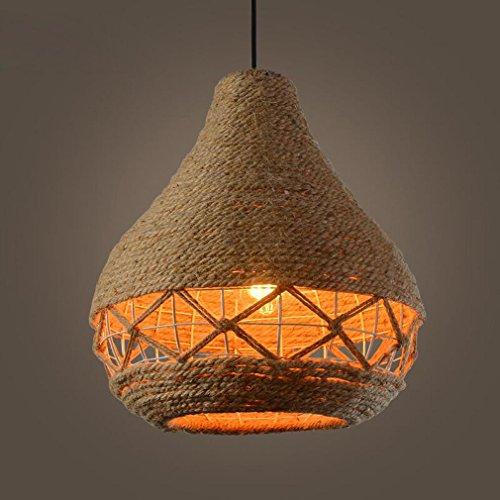 GRFH Amerikanische Industrie Hanf Seil Lampe Retro Individualität Seil Kürbis Kreative Bar Tisch Kaffee Restaurant Garment Shop Pendelleuchte