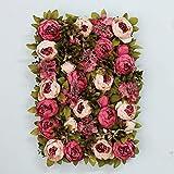 CJJC Pannelli di Fiore di peonia Artificiale, Sfondo della schermata di Privacy della pianta di plastica Creativa, Sfondo del Giardino 1pc