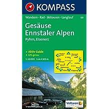 Gesäuse, Ennstaler Alpen, Pyhrn, Eisenerz: Wandern, Rad, Skitouren, Langlauf. GPS-genau. 1:50.000