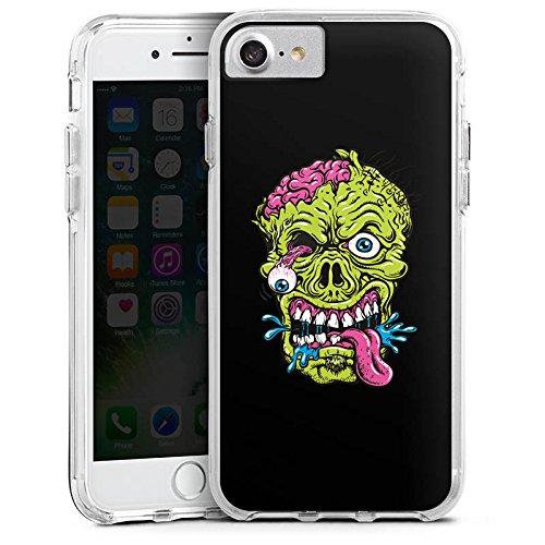 Apple iPhone 6 Bumper Hülle Bumper Case Glitzer Hülle Zombie Halloween Scary Bumper Case transparent