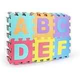 De alta calidad de BPA libre 66 piezas de puzzle con 26 Juego Alfombrillas, robusto Alfombra infantil de juego, De Espuma, con acolchado de aislamiento, juego de Sonido, contra fríos suelos y suelo frío.
