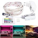 LED Hintergrundbeleuchtung, Maylit RGB Stimmungslicht 2M / 6.56ft Flexible LED Streifen LED Bettlicht Schlummerleuchte, LED Nachtlicht für Kinderzimmer und Schlafzimmer