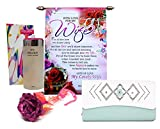 Saugat Traders Valentine Gift for Girlfriend & Wife - Love Scroll Card, Womens Wallet, Perfume & Red Rose - Gift for Girlfriend-Wife-Fiancee-Girls