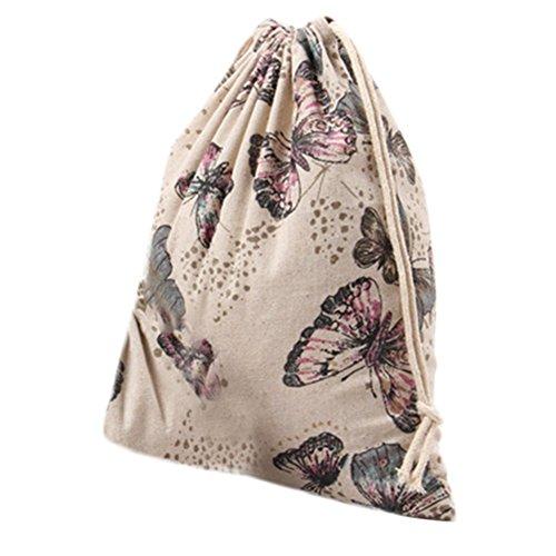 Cdet Kordelzug Tasche Beutel Geschenk Tasche Gedruckt Hanf Schmetterling Gebündelt Kordelzug Tee Geschenk Süßigkeiten Taschen Lagerung Tasche Kosmetiktaschen