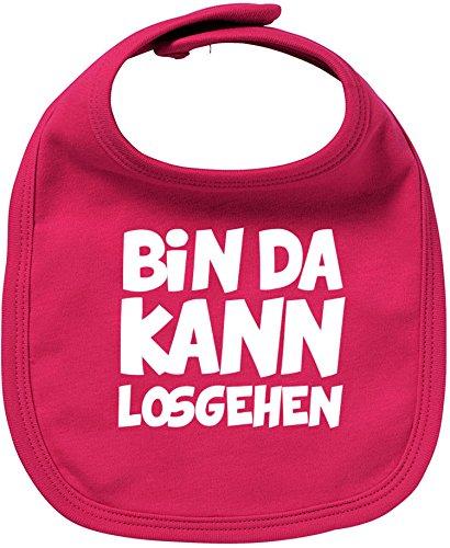 EZYshirt Bin da kann losgehen Bio Baumwolle Baby Lätzchen