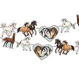 Neu 2019: 3m Girlande * Tapirella Pferde * als Deko für Kindergeburtstag und Motto-Party   11361   Pferde Pony Reiten Kinder Geburtstag Motto Mädchen