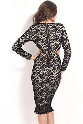 Dissa® femme Noir SY6340 robe de cocktail Noir