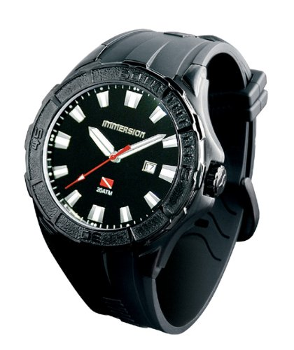 Immersion IM6852 Gents Watch Quartz Analogue Black Dial Black Plastic Strap