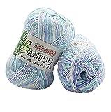 JoyJay New 100% Bamboo Cotton Warm Soft Natural Knitting Crochet Knitwear Wool Yarn 50g D (F)