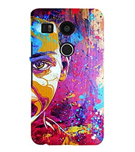 EPICCASE Colorful Face Art Mobile Back Case Cover For LG Nexus 5x (Designer Case)