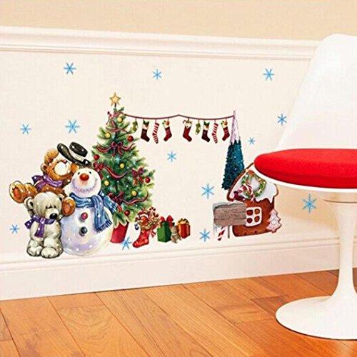 Ularmo Weihnachts-Fenster zeigen Aufkleber Wandtattoo