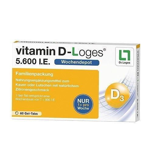 Vitamin D-Loges 5.600 I.E. Gel-Tabs, 60 St. Kautabletten (Dr D Vitamin)