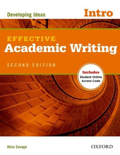 Portada del libro Effective Academic Writing Second Edition: Introductory: Student Book by Alice Savage (12-Jul-2012) Paperback