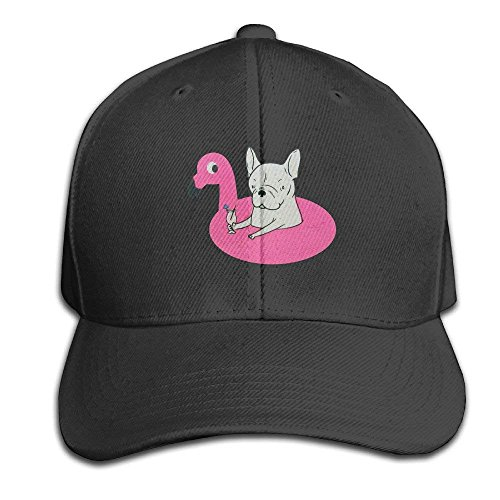Vent Pipe Caps (fboylovefor Frenchie Flamingo Pool Float Adjustable Baseball Caps Unstructured Dad Hat 100% Cotton Black)