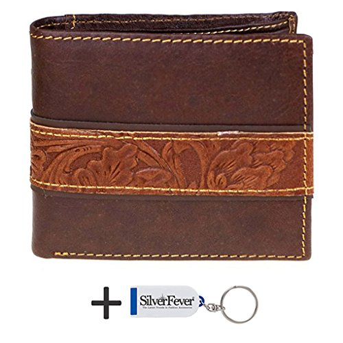 genuine-leather-tooled-mens-wallet-key-foab-coffee-cntr-2-fold
