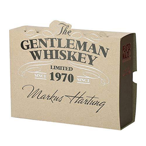 Herz & Heim® Peated Malts of Distinctions Whisky Probierpaket (4 x 0.05 l) in personalisierter Gentleman Whiskey Verpackung