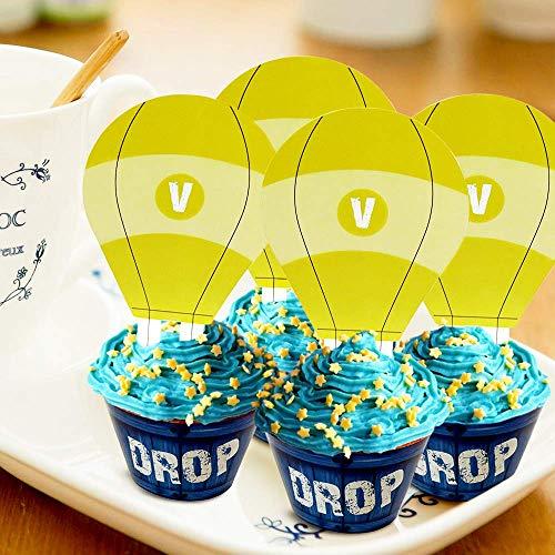 Sayala 24 Piezas de Cupcake para Decoraciones de cumpleaños Fiesta de