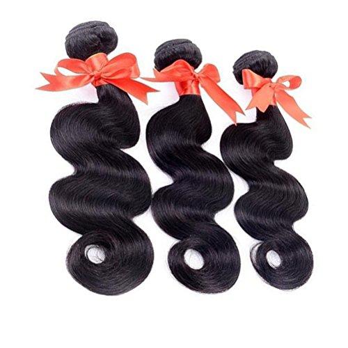 Frcolor 3 Bundles Brasilianische Körperwelle Haarbündel Unverarbeitete Natürliche Webart Menschliches Haar (14 Zoll) (Menschliches Haar Flechten Erweiterungen)