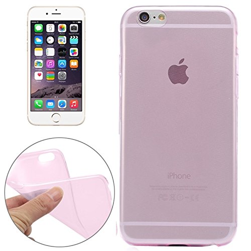 YAN Für IPhone 6 / 6S, 0.3mm Ultradünner transparenter weicher TPU schützender Fall ( Color : Black ) Pink