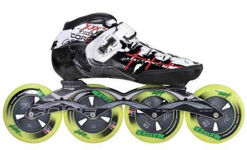 Powerslide Herren Speedskates Triple XXX Skate, schwarz Weiss rot, 46, 904149/46