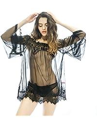 SAMGU Women Sexy Lingerie Transparent Babydoll Sleepwear Robe en dentelle