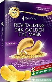 Under Eye Mask Gold Eye Mask Anti-Aging Hyaluronic Acid 24k Gold Eye Patches Under Eye Pads for Moisturizing &