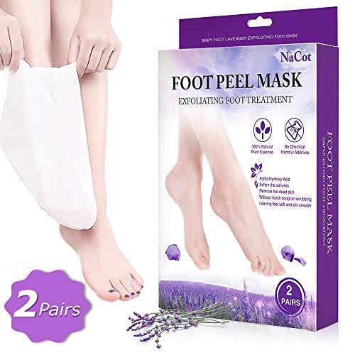 2 Paar Fußmaske Hornhaut Entfernung Lavendel Fussmaske Hornhautentfernung Fußmaske Socken Baby Foot Beauty Fuß Peeling Maske - Füße Fuß-behandlung Baby
