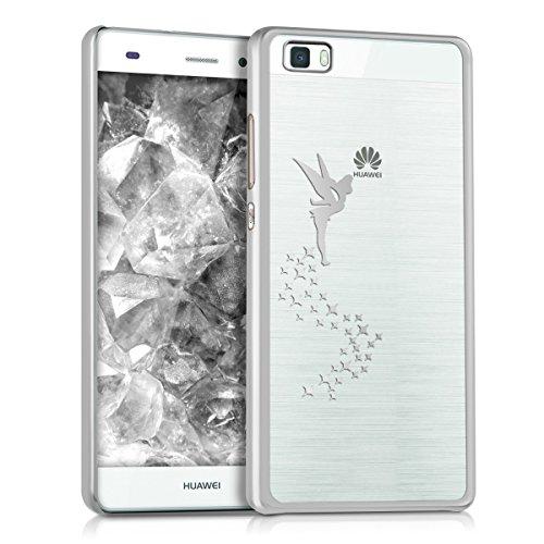 kwmobile Huawei P8 Lite (2015) Hülle - Handyhülle für Huawei P8 Lite (2015) - Handy Case in Silber Transparent -