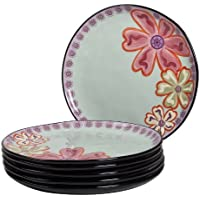 Hearts and Flowers 11 Round Dinner Plate (Set of 6)