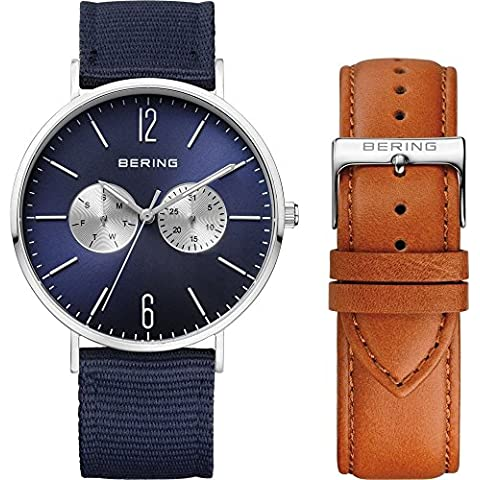 Bering Classic Collection 14240-507 Reloj de Pulsera para hombres Con pulsera adicional