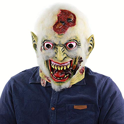 Kostüm Gruselige Billig Wirklich - Leezo Halloween Horror Gesichtsmaske Erwachsene Cosplay Gummi Zombie Clown Esel Maske Party Latex Kostüm Liefert Prop