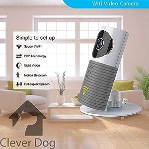 Clever Dog Smart Camera WiFi Monitor, Colour Grey   9