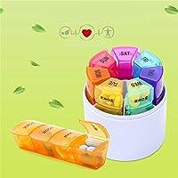 PEIQI 7 Tage Tablettenbox Wochen Medikamentendosierer 4 Mal Am Tag Rezept und Medikamente Brieftasche Pill Box... preisvergleich bei billige-tabletten.eu