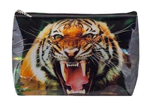 Trousse de Toilette Tigapaw ®, design Tigre, 20 cm de long, 14 cm de haut, Tiger