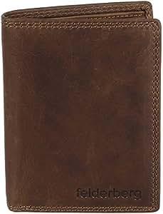 """""""Logan"""" Vintage Geldbörse aus feinstem, geöltem Büffelleder, Braun / Rindleder"""