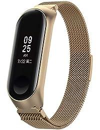 Hongtianyuan Correa de Recambio, Kit de Reposición, Correa de Repuesto para Reloj Inteligente de Xiaomi Mi Band 3 (Champagne Gold)