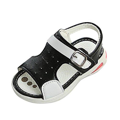 Uomogo® scarpine neonato sandali punta chiusa bambino sandalo bambino scarpe estive bambini e ragazzi scarpe bimba 0-18 mesi (età: 18-24 mesi, nero)