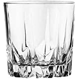 Crystal Whisky Glass (300 Ml, White, Pack Of 6)