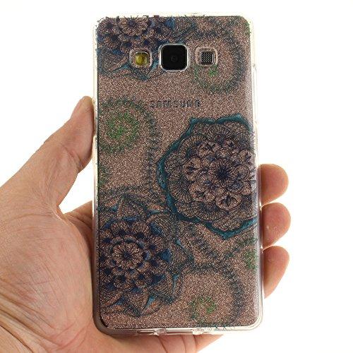 Samsung Galaxy A3 (2015) hülle,MCHSHOP Ultra Slim Skin Gel TPU hülle weiche Silicone Silikon Schutzhülle Case für Samsung Galaxy A3 (2015) - 1 Kostenlose Stylus (Magnolie) Blaue grüne Traumblume