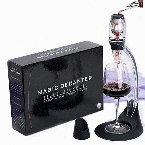 Weinbelüfter Wein Dekantierer Set, Belüfter Magic Dekanter Deluxe mit Ständer Luxus Weindekanter