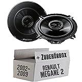 Renault Megane 2 - Pioneer TS-G1332i - 13cm 2-Wege Koax Lautsprecher - Einbauset