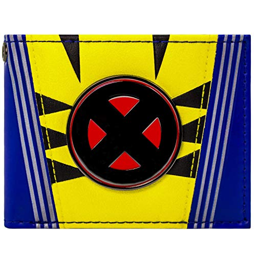 X-Men Metallic Logo Wolverine Anzug Blau Portemonnaie Geldbörse