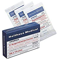 Holthaus Medical Augenkompresse YPSIPAD, Kompresse Wundabdeckung, DIN61640, steril, 56x70mm, 1St preisvergleich bei billige-tabletten.eu