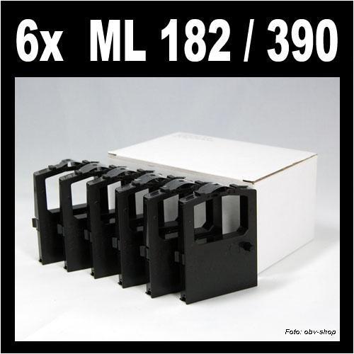 6 Stück kompatibles Farbband für OKI ML 182 / ML 390 / ML 100 120 172 180 182 183 184 186 188 192 193 195 240 280 320 321 325 351 390 391 3320 3321 ersetzt OKI 9002303 / 9002309