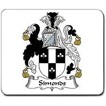 Simonds familia escudo escudo de armas alfombrilla de ratón