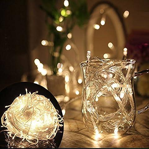 GCBTECH LED String Lichterkette Warmweiß Innen für Weihnachtsbaum Weihnachten Halloween