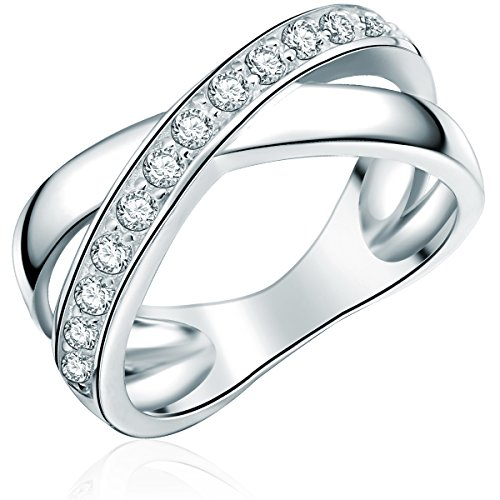 Rafaela Donata Damen-Ring Classic Collection 925 Sterling Silber Zirkonia weiß Gr. 60 60800241